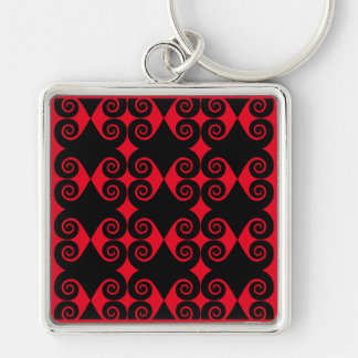 Curly Diamond Pattern Key Ring