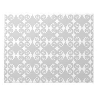 Curly Diamond Pattern Notepad