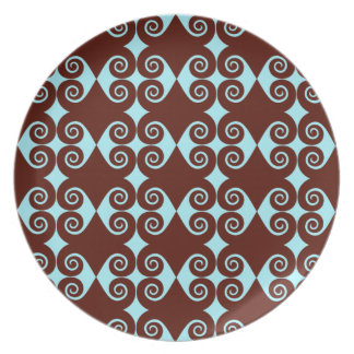 Curly Diamond Pattern Plate