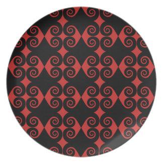 Curly Diamond Pattern Plate