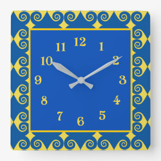 Curly Diamond Pattern Wallclocks