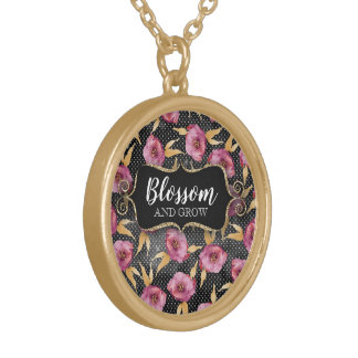 Curly Frame Blossom & Grow Floral Gold Necklace