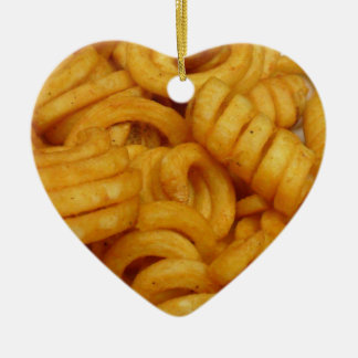 Curly Fries Ceramic Ornament