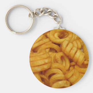 Curly Fries Key Ring