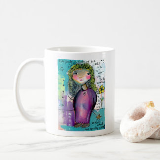 Curly Hair, Magic Wand and Sparkly Slippers Coffee Mug