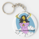 Curly Haired Angel, I'm your Guardian Angel Keychains