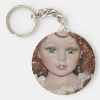 Curly Haired Doll Key Chain