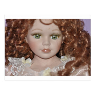 Curly Haired Doll Postcard