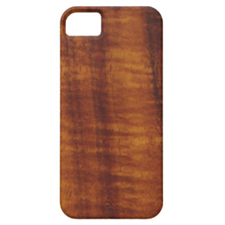 Curly Hawaiian Koa Wood Style Barely There iPhone 5 Case