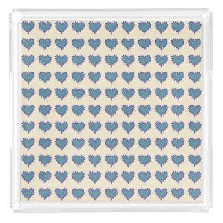 Curly Heart Blue Gray Canary Yellow Perfume Tray