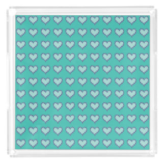 Curly Heart Blue Green Perfume Tray