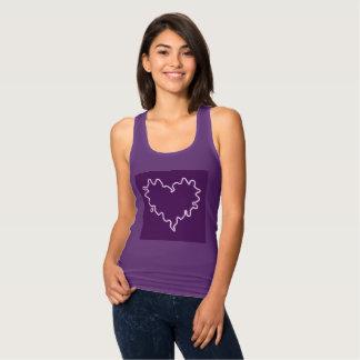 Curly Heart Purple Tank Top