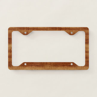 Curly Koa Acacia Wood Grain Look Licence Plate Frame