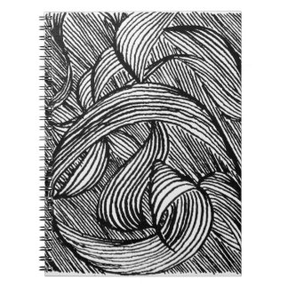 curly LINEs Spiral Notebook