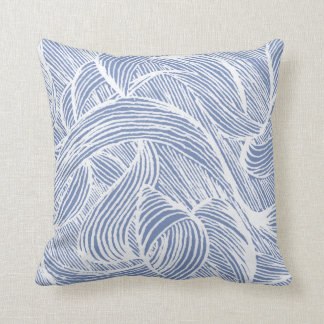 Curly LINEs Throw Pillow