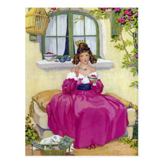 Curly Locks Wilt Thou Be Mine Nursery Rhyme Postcard