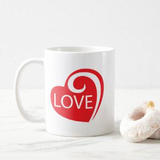 Curly Love Heart Coffee Mug