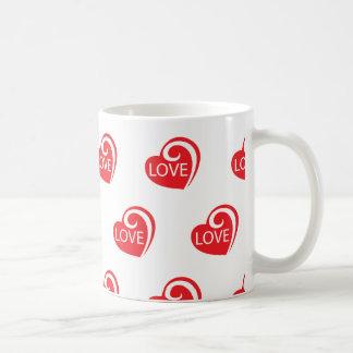 Curly Love Hearts Coffee Mug