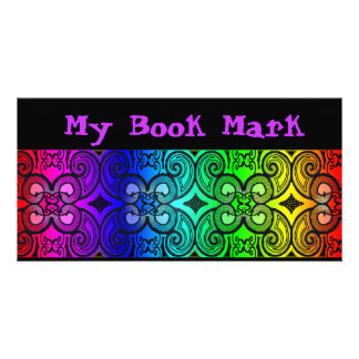 Curly N Rainbow Book Marker Photo Cards