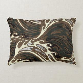 Curly Ocean Waves Decorative Cushion