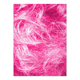Curly Pink Hair 14 Cm X 19 Cm Invitation Card