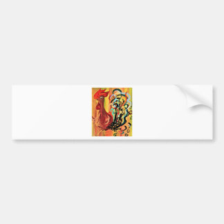 Curly Rooster Bumper Sticker