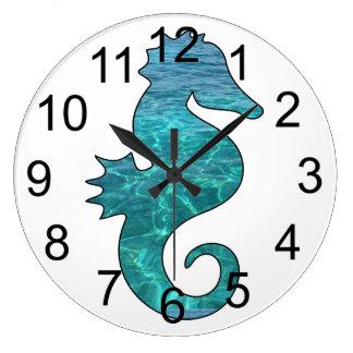 Curly Seahorse Wall Clock