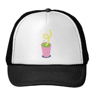 Curly straw milkshake cap