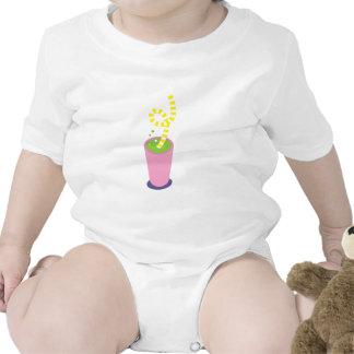 Curly straw milkshake baby creeper
