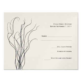 Curly Willow Wedding RSVP Response Card