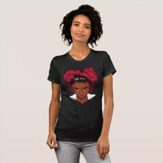 CurlyGirl Kinky Natural Hair Afro Puff T Shirt/Tee T-Shirt