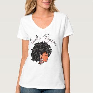 """CURLZ """"LIZA CURLS POPPIN"""" T-Shirt"""