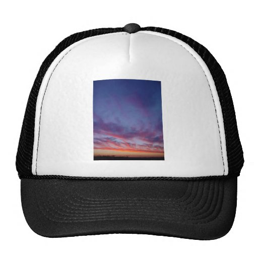 Currambine Sunset With Spray Of Clouds On Western Trucker Hat