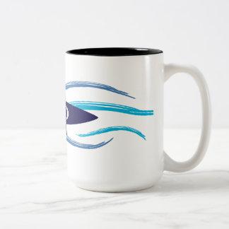 Current Kayak Two-Tone Coffee Mug