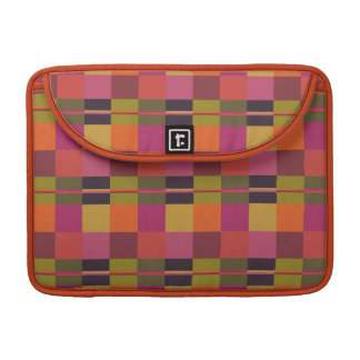 "Current Palette Check Plaid 13"" MacBook Sleeve Sleeve For MacBooks"