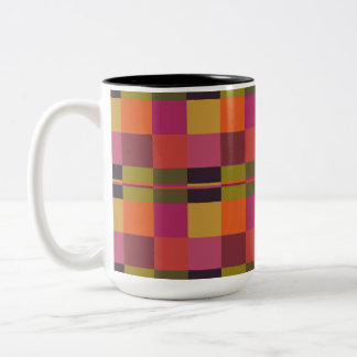 Current Palette Check Plaid Mug