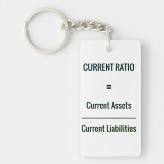 """Current Ratio"" Key Ring"