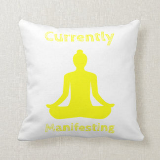 Currently Manifesting Polyester Throw Pillow