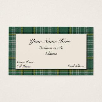 Currie Scottish Tartan Plaid Business Card