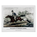 Currier and Ives - The Escape of Sgt Champe Poster