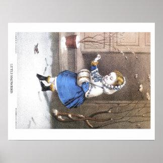 Currier & Ives Lithograph: Little Snowbird Poster