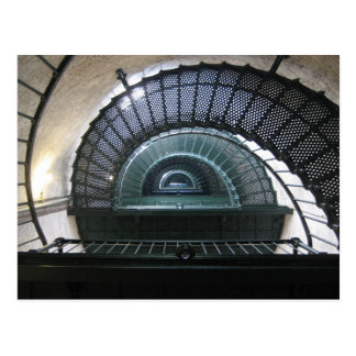 Currituck Light House Stairwell Postcard
