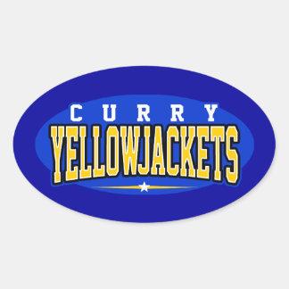 Curry High School; Yellowjackets Oval Sticker