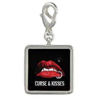 Curse & Kisses Brand Silver Charm