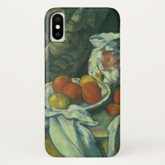 Curtain and Flowered Pitcher by Paul Cezanne iPhone X Case