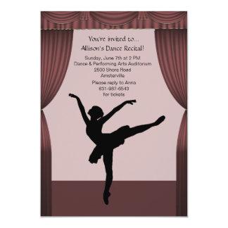 Curtain Call Dance Recital Invitation