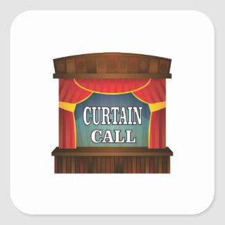 curtain call stage right square sticker