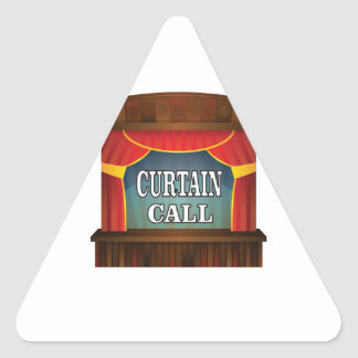 curtain call stage right triangle sticker