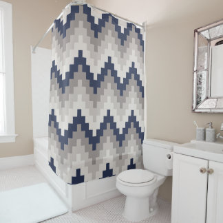 Curtain of Bath Creative Chevron