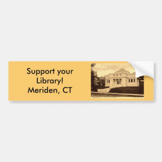 Curtis Library Meriden CT Vintage 1907 Bumper Sticker